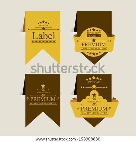 premium quality design over beige background vector illustration   - stock vector