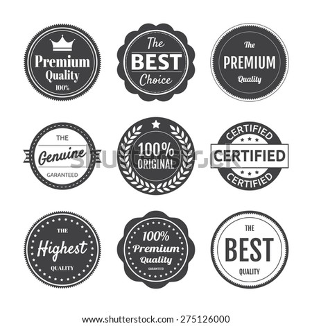 Premium Quality Emblem Collection - stock vector