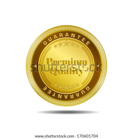 Premium Quality Gold Medal Vector Design - stock vector