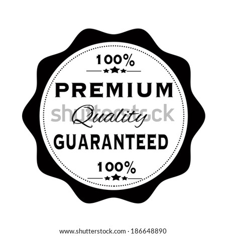 premium quality guaranteed grunge stamp with on vector illustration - stock vector