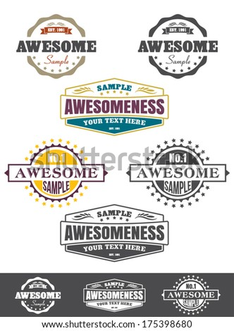 Premium Quality labels and badges - stock vector