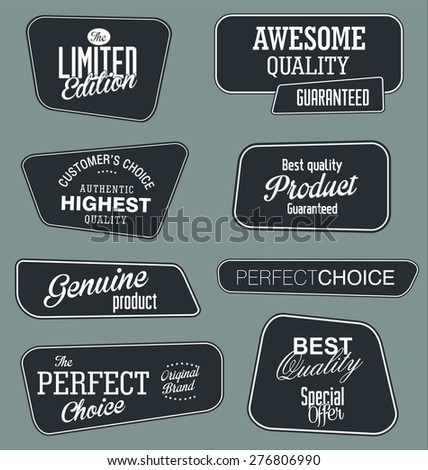 Premium quality labels collection - stock vector