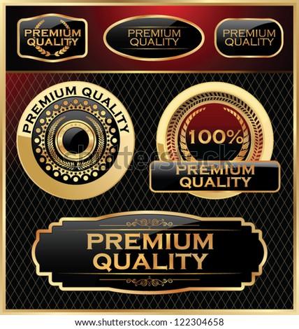 Premium quality labels set - stock vector