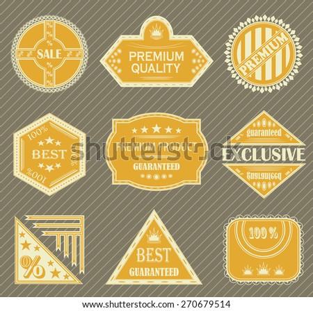 Premium quality labels. Set of retro labels. Vintage collection    - stock vector