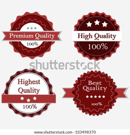 Premium Quality Labels, vintage design - stock vector