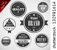 Premium Quality labels with retro vintage design - EPS10 Compatibility Required - stock vector