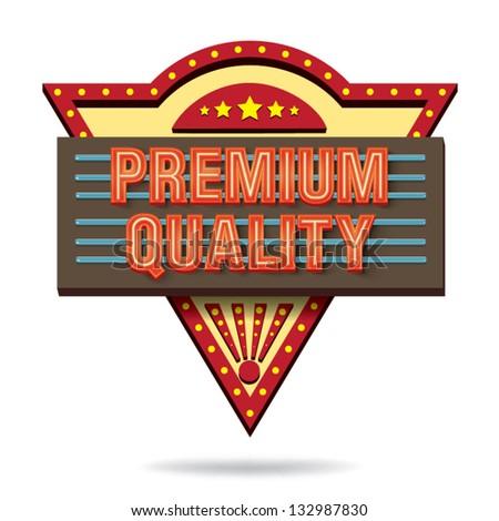 Premium quality retro boarddesign - stock vector