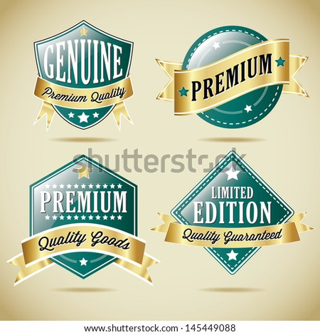 Premium Quality Vector Label Collection  - stock vector