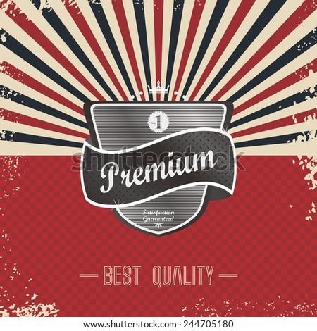 premium retro badge - stock vector