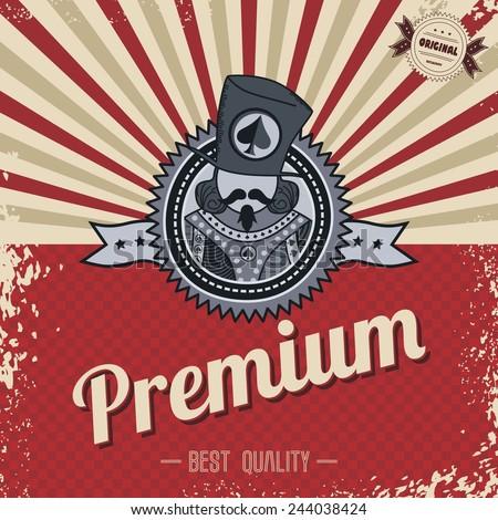 premium retro template - stock vector