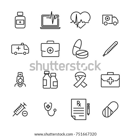Premium set of health line icons. Simple pictograms pack. Stroke vector illustration on a white background. Modern outline style icons collection.