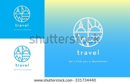 premium travel concept logo vector - stock vector