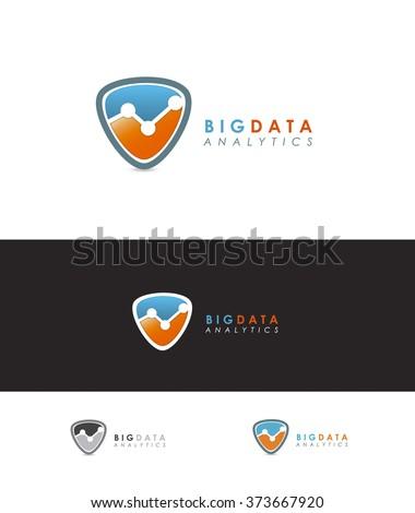 PREMIUM VECTOR LOGO DESIGN FOR DATA COMPANY - stock vector