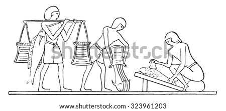 Preparation of fish, vintage engraved illustration.