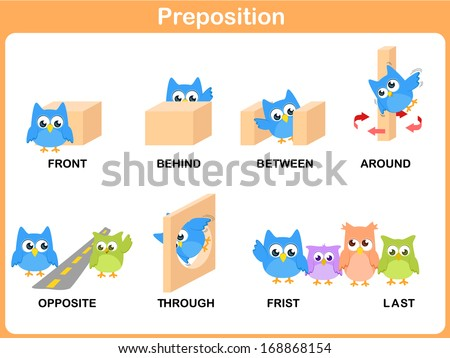 Worksheets Pic On Preposition preposition stock images royalty free vectors shutterstock of motion for preschool