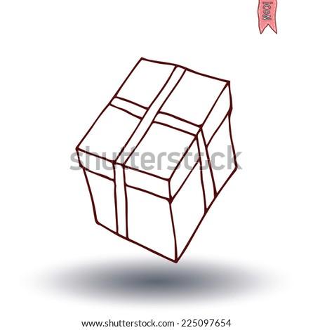present icons. vector illustration. - stock vector