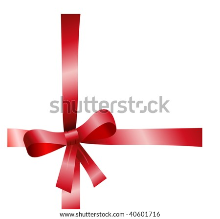 Present ribbon for special events.Vector illustration.