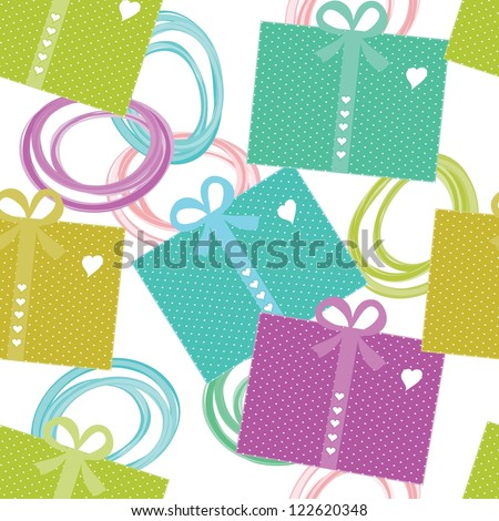 Present seamless pattern background
