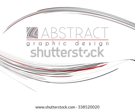 Presentation. Abstract template of page with black, red and gray thin strips. Vector graphic design layout - stock vector