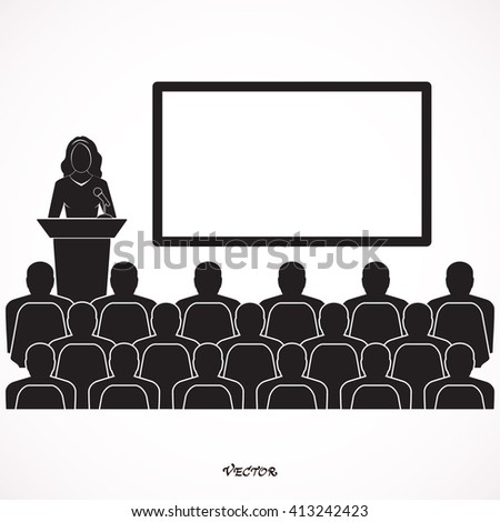 Presentation - Blank. Training design over gray background vector illustration.  Icon Isolated on White Background
