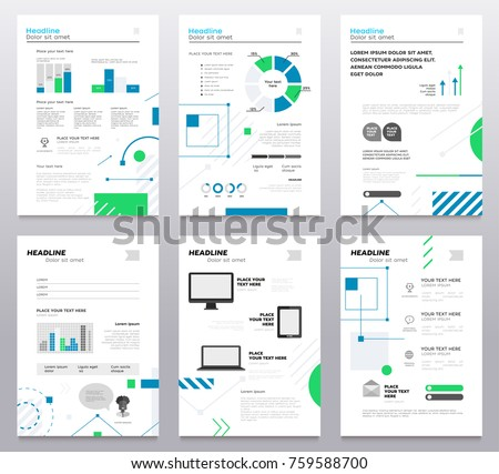 Presentation booklets vector template a4 size stock vector presentation booklet cover vector template a4 pages on abstract background with blue and green geometric pronofoot35fo Choice Image