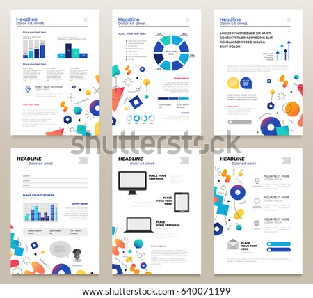 Presentation Booklet Vector Template A 4 Pages Stock Vector (2018 ...