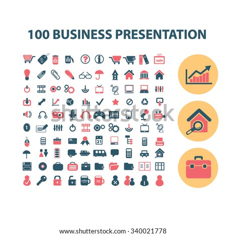 presentation, chart, diagram, growth icons, signs vector concept set for infographics, mobile, website, application  - stock vector