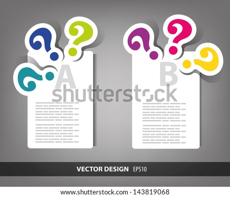 presentation design made from question mark - stock vector