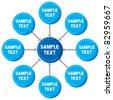 presentation diagram (business process, marketing) - stock