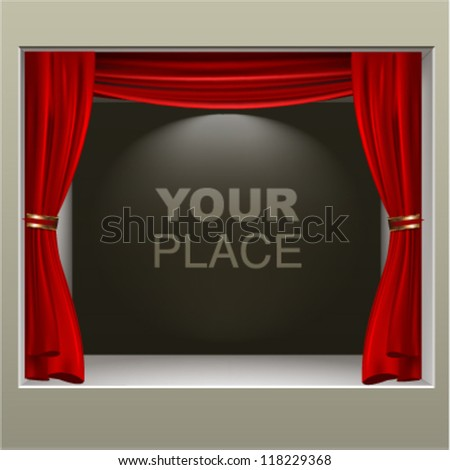 presentation exhibitor background. vector design - stock vector