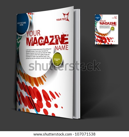 Presentation of brochure cover design template., vector illustration. - stock vector