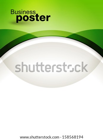 Presentation of business poster. Flyer design content background. Design layout template  - stock vector