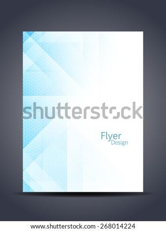 Presentation of elegant flyer or cover design template. vector illustration - stock vector