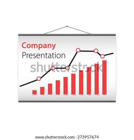 presentation of the company's  on projector screen. Vector design.
