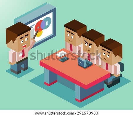 presentation on whiteboard. Vector illustration - stock vector