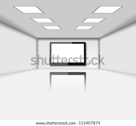 Presentation screen, LCD monitor with space for your image  - stock vector