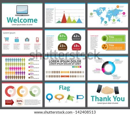presentation template business company slide show stock vector