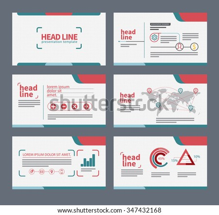 presentation template flat design set for brochure flyer marketing and advertising and icon? - stock vector