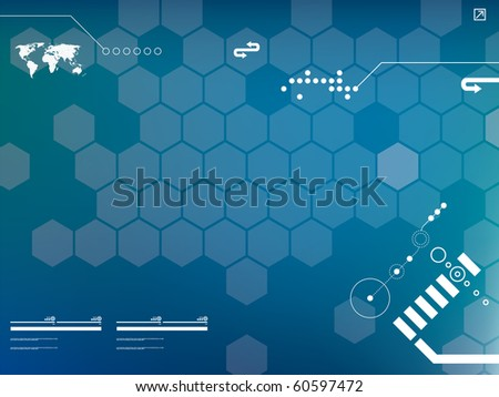 presentation template in vector - stock vector
