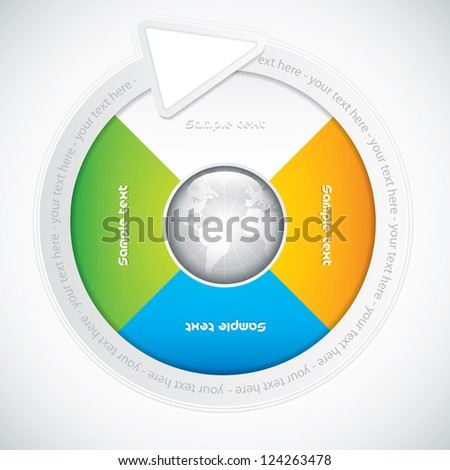 Presentation Template with four colored text box.Business vector - stock vector