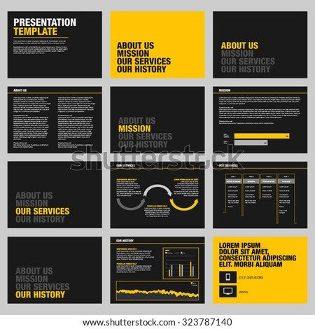 Presentation templates and infographics vector elements - stock vector