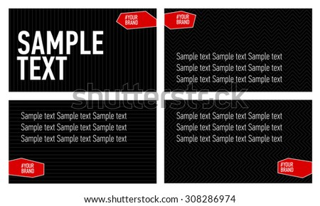 Presentation templates set
