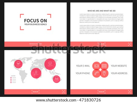 presentation vector layout corporate documents annual stock vector, Powerpoint templates