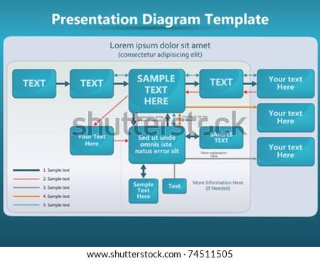 presentation with diagrams and arrows - stock vector