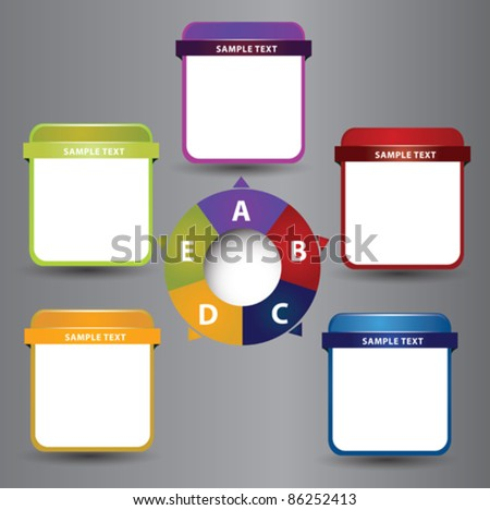 presentation with place for description for each item - stock vector