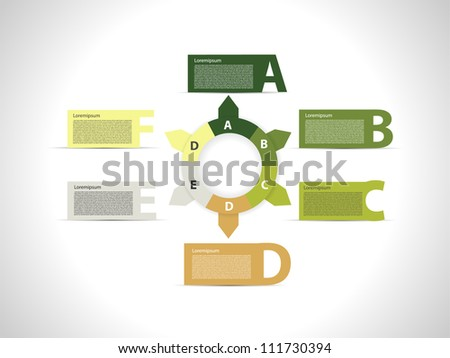 Presentation with text boxes - stock vector