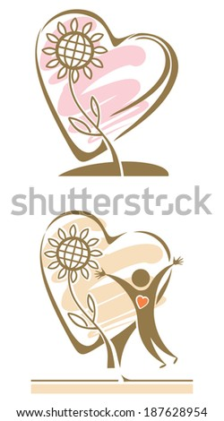 Preservation of the environment. Two symbolic illustration. - stock vector