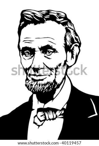 President Lincoln illustration - stock vector