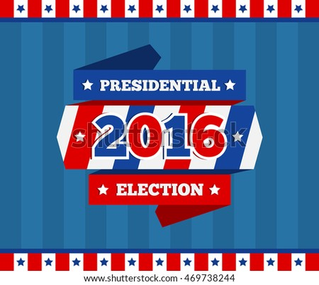 presidential election background design