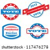 Presidential Election Badges - stock vector